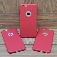 Силиконовый чехол Hundo Красный под кожу для IPhone 6/6s