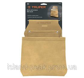 Пояс столяра, Кожа, 2 кармана 300х225мм -Truper
