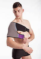Согревающий фиксирующий бандаж для плеча с турмалином, фото 1