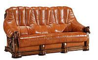 Прямой раскладной кожаный диван OSKAR (190см)