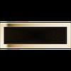 Решетка для камина позолоченная 17х49 см без жалюзи
