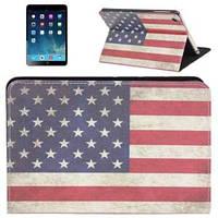 Кожаный тонкий чехол Ретро стиль Флаг USA для iPad Mini