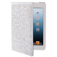 Милый чехол-обложка ультра-тонкий защитный White Белый для iPad Mini