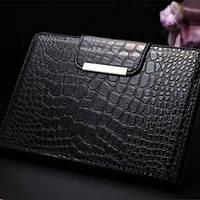 Кожаный чехол смарт обложка Кожа Крокодила Black Черный для iPad Mini
