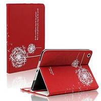 Кожаный чехол смарт обложка Одуванчик Dandelion Red Красный для iPad Mini