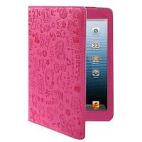 Милый чехол-обложка ультра-тонкий защитный Hot Pink Ярко Розовый для iPad Mini