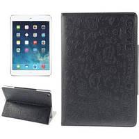 Милый чехол-обложка ультра-тонкий защитный Black Черный для iPad Air