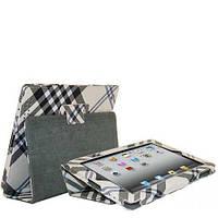 Смарт чехол-обложка Burberry New Style Серая для iPad 2/3/4