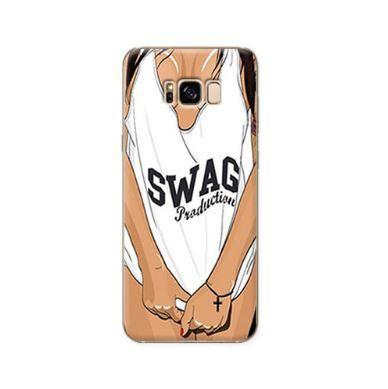 Силиконовый бампер с принтом для Samsung Galaxy S8 SWAG