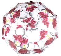 Женский симпатичный компактный прочный механический  зонтик Feeling Rain art. 301M красивые цветы (100814)