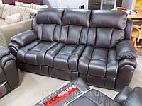 Бостон - 3х місний шкіряний диван з спальною функцією