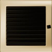 Решетка для камина позолоченная 22х22 см с жалюзи