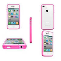 Розовый силиконовый бампер Apple для iPhone 4/4S