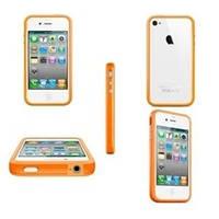 Оранжевый силиконовый бампер Apple для iPhone 4/4S