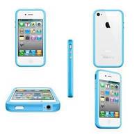 Синий силиконовый бампер Apple для iPhone 4/4S