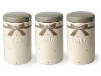 Контейнеры керамические 3 чай кофе сахар
