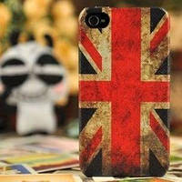 Чехол Пластик Ретро стиль Флаг Great Britain для IPhone 4/4s