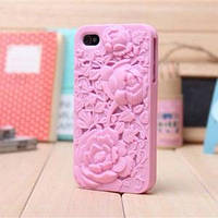 Чехольчик SweatchEasy цветок Blossom, Светло Розовый для IPhone 4/4s