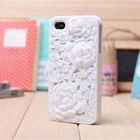 Чехольчик SweatchEasy цветок Blossom, Белый для IPhone 4/4s