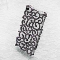 Чехол накладка Королевский цветок Черный для IPhone 4/4s