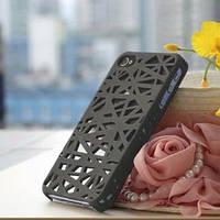 Чехол накладка Паутинка Серая для IPhone 4/4s