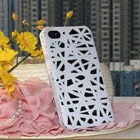 Чехол накладка Паутинка Белая для IPhone 4/4s