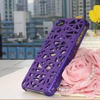 Чехол накладка Паутинка Фиолетовая для IPhone 4/4s