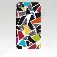 Чехол ультратонкий пластиковый эксклюзив узор Фигур для IPhone 4/4s