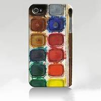 Чехол ультратонкий пластиковый эксклюзив Краски для IPhone 4/4s