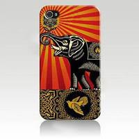 Чехол ультратонкий пластиковый эксклюзив Слон с Розой для IPhone 4/4s