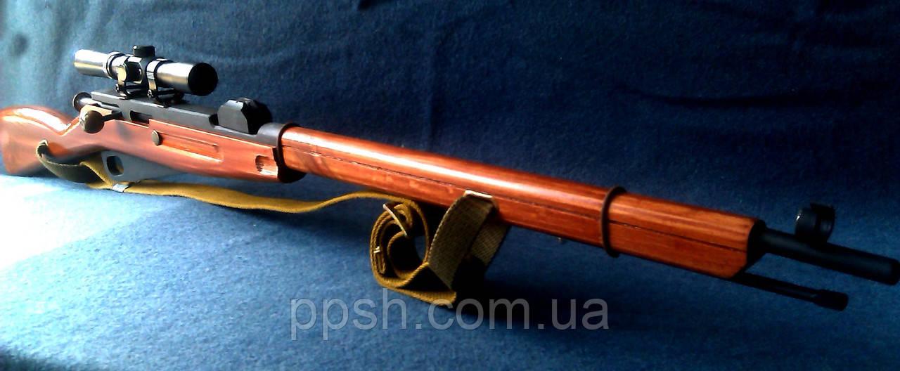 Снайперская Винтовка Мосина макет из дерева с патроном