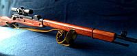 Снайперская Винтовка Мосина макет из дерева с патроном, фото 1