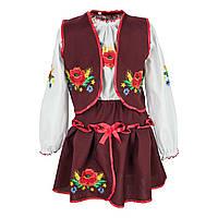 Костюм с вышивкой для девочки от 2 до 10 лет 8