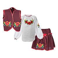 Костюм з вишивкою для дівчаток от 2 до 10 років
