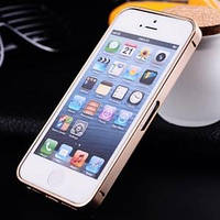 Металлический бампер ультратонкий 0.7мм Шампань Champagne Gold для IPhone 5/5s
