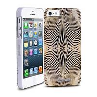 Силиконовый чехол Justcavalli Zebra Gold Зебра Золотая для IPhone 5