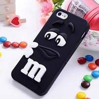 Силиконовый чехол M/M's (эм-энд-эмс) Черный на iPhone 5/5S
