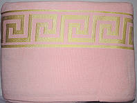Махровая простыня 160*220 хлопок розовая
