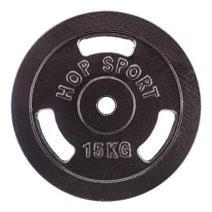 Диск металевий Hop-Sport 15 кг, фото 2