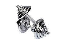 Гантели хромированные Hop-Sport 2 х 10 кг, фото 3