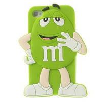 Силиконовый чехол 3D M/M's (эм-энд-эмс) Зеленый на iPhone 5/5S