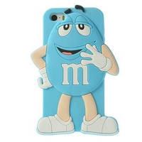 Силиконовый чехол 3D M/M's (эм-энд-эмс) Голубой на iPhone 5/5S