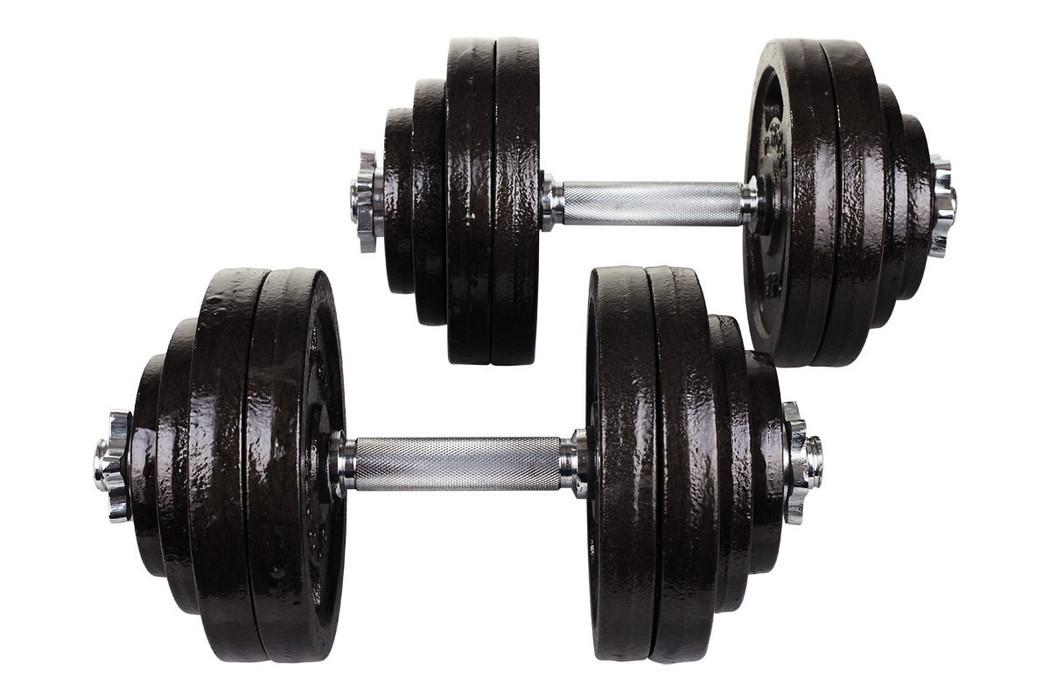 Гантели металлические Hop-Sport Strong 2 х 30 кг