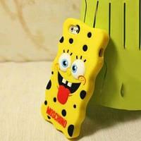 Силиконовый чехол Sponge BOB Губка Боб для IPhone 5/5s