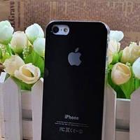 Чехол Пластик c логотипом Черный для IPhone 5