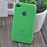 Чехол Пластик c логотипом Зеленый для IPhone 5/5s