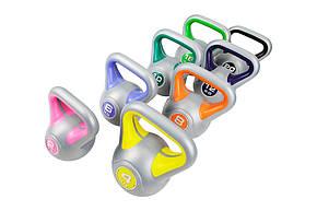 Гиря вінілова Hop-Sport 2 кг, фото 2