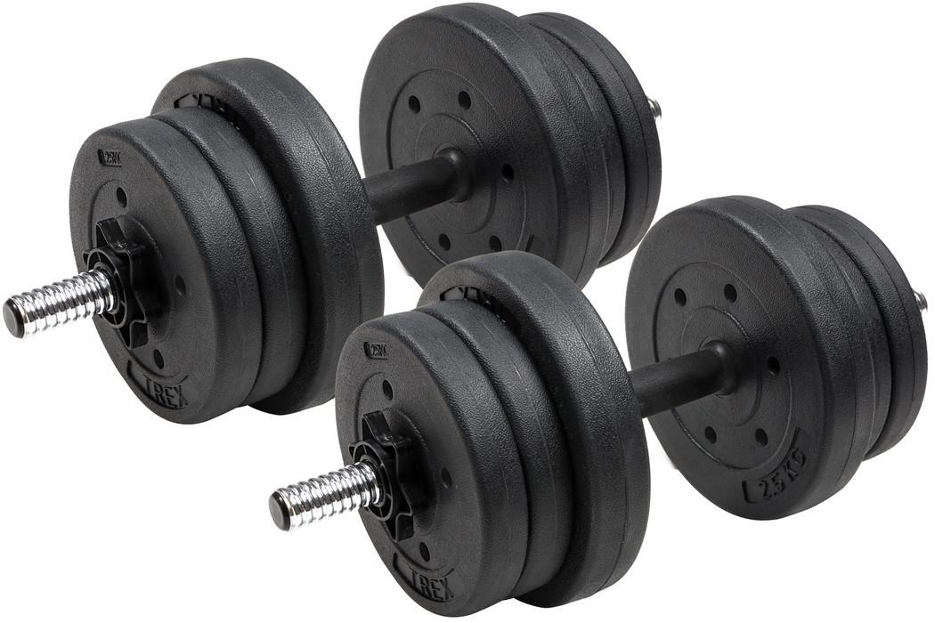 Гантели композитные TREX Sport 2 х 10 кг