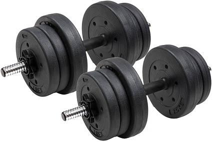 Гантели композитные TREX Sport 2 х 10 кг, фото 2