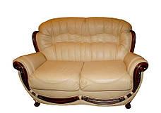 """Кожаный двухместный раскладной диван """"Джозеф"""" без резьбы (150см), фото 2"""